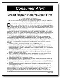 Credit Repair : Help Yourself First by