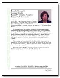 Assistant Director Bureau of Consumer Pr... by Rosenfeld, Dana B.