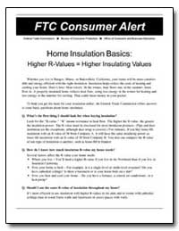 Home Insulation Basics : Higher R-Values... by
