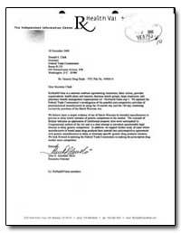 Re: Generic Drug Study - Ftc File No. V0... by Golenski, John D.
