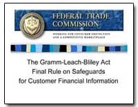 The Gramm-Leach-Biley Act Final Rule on ... by