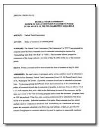 Federal Trade Commission Notice of 30-Da... by Clark, Donald S.