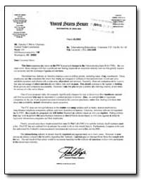 Re: Telemarketing Rulemaking - Comment. ... by Inhofe, James
