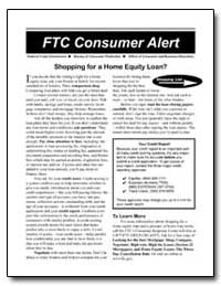 Shopping for a Home Equity Loan by