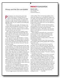 Privacy Foundation by Smith, Richard M.
