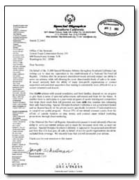 Dear Secretary : On Behalf of the 11, 00... by Schulman, Janet