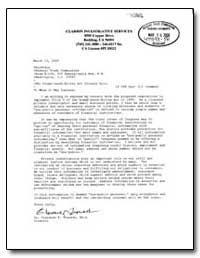 Clarion Investigative Services by Trausch, Clarence P.