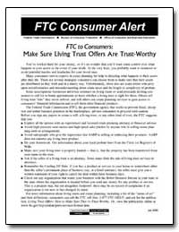 Ftc to Consumers : Make Sure Living Trus... by