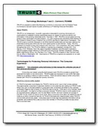Technology Workshops 1 and 2 - Comment, ... by