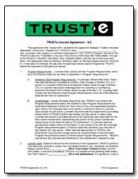 Trust License Agreement 6.0 by