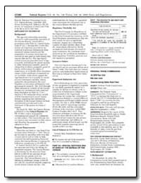 Federal Trade Commission 16 Cfr Part 310... by Clark, Donald S.