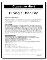 Buying a Used Car by