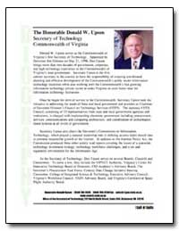 The Honorable Donald W. Upson Secretary ... by Upson, Donald W.
