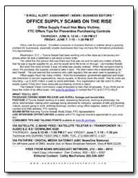 Office Supply Scams on the Rise by