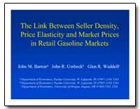 The Link between Seller Density, Price E... by Barron, John M.