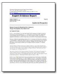 Expert Evidence Report by Weller, Charles D.