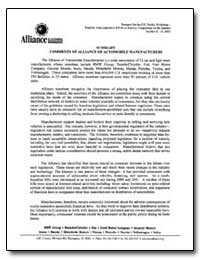 Summary Comments of Alliance of Automobi... by