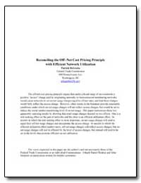 Reconciling the Off -Net Cost Pricing Pr... by Degraba, Patrick