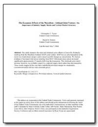 The Economic Effects of the Marathon - A... by Hosken, Daniel S.