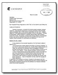 Re: Proposed Privacy Regulations under T... by Wright, Samuel H.