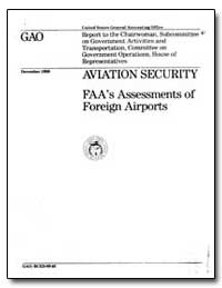 Aviation Security Faa's Assessments of F... by Peach, J. Dexter