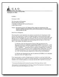 Recognition of R.S. 2477 Rights-Of-Way u... by Gamboa, Anthony H.