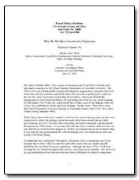 Fiscal Policy Institute 275 Seventh Aven... by Adler, Moshe, Ph. D.