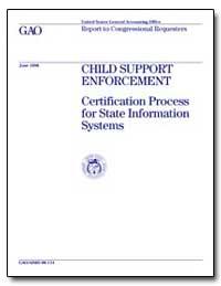 Child Support Enforcement, Certification... by Willemssen, Joel C.