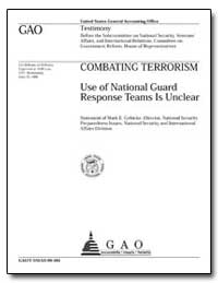 Use of National Guard Response Teams Is ... by Gebicke, Mark E.