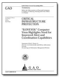I Love You : Computer Virus Highlights N... by Brock, Jack L., Jr.