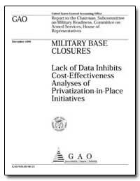 Lack of Data Inhibits Cost-Effectiveness... by Warren, David R.