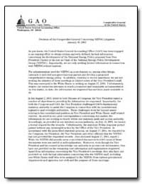Decision of the Comptroller General Conc... by Walker, David M.