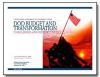 Dod Budget and Transformation by Walker, David M.