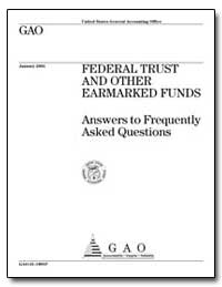 Federal Trust and Other Earmarked Funds ... by General Accounting Office