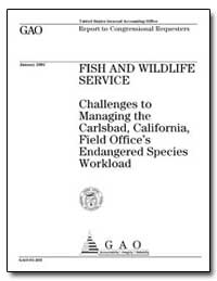 Fish and Wildlife Service Challenges to ... by General Accounting Office