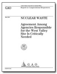 Nuclear Waste Agreement Among Agencies R... by General Accounting Office
