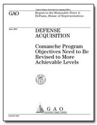 Defense Acquisition Comanche Program Obj... by General Accounting Office