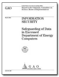 Safeguarding of Data in Excessed Departm... by Dacey, Robert F.