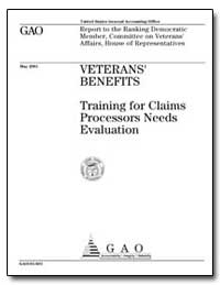 Veterans' Benefits Training for Claims P... by General Accounting Office