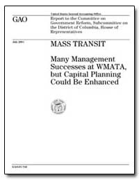 Many Management Successes at Wmata, But ... by General Accounting Office