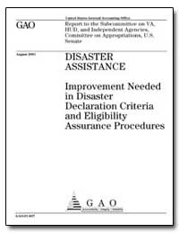 Disaster Assistance Improvement Needed i... by General Accounting Office