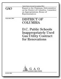 District of Columbia D. C. Public School... by General Accounting Office