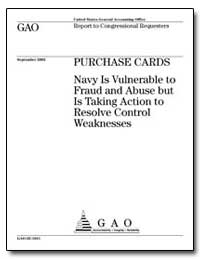 Purchase Cards Navy Is Vulnerable to Fra... by General Accounting Office