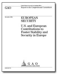 European Security U. S. And European Con... by General Accounting Office