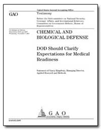 Chemical and Biological Defense Dod Shou... by Kingsbury, Nancy R.