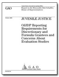 Juvenile Justice Ojjdp Reporting Require... by General Accounting Office
