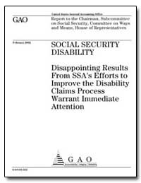 Social Security Disability Disappointing... by General Accounting Office