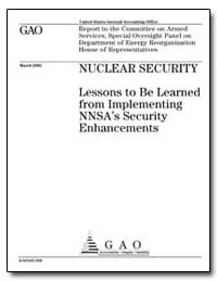 Nuclear Security Lessons to Belearned fr... by General Accounting Office