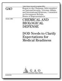 Chemical and Biological Defense Dod Need... by General Accounting Office