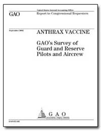 Anthrax Vaccine Gao's Survey of Guard an... by General Accounting Office
